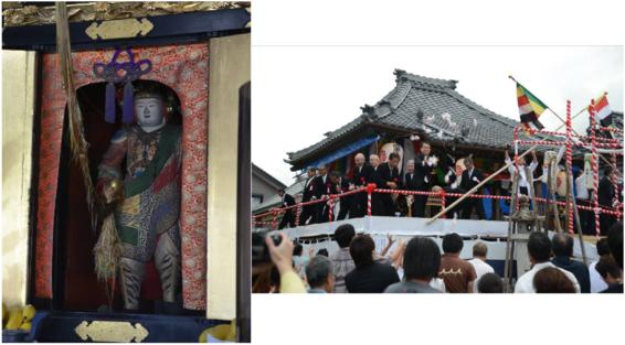 祝 愛西市文化財指定 西條町の木造勝軍延命地蔵菩薩立像