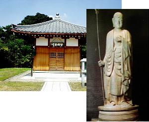 鋳鉄地蔵菩薩立像